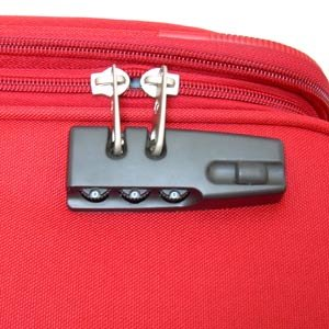 Suitcase with padlock